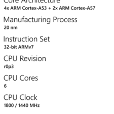 Microsoft Lumia 950 processor