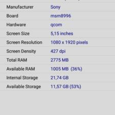 Sony Xperia XZ SoC