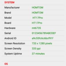 Doogee HomTom HT17 Pro SoC