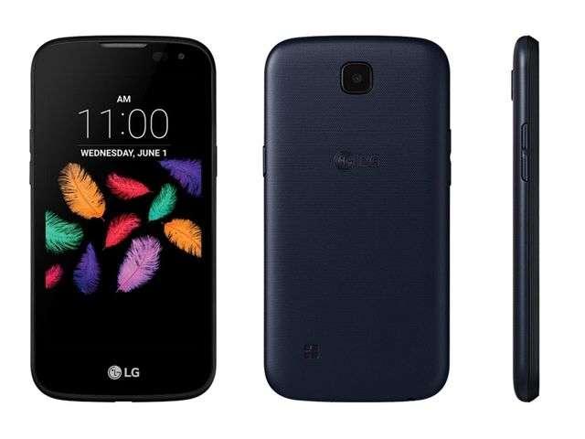 Фронтальная и задняя панель LG К3