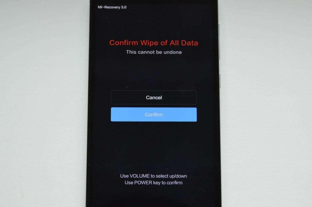 Сброс данных на Xiaomi