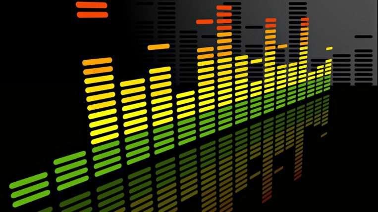 графическое отображение частот в эквалайзера