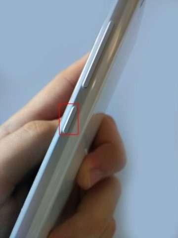 боковая панель смартфона с кнопкой