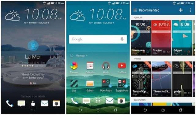 HTC One E9 интерфейс