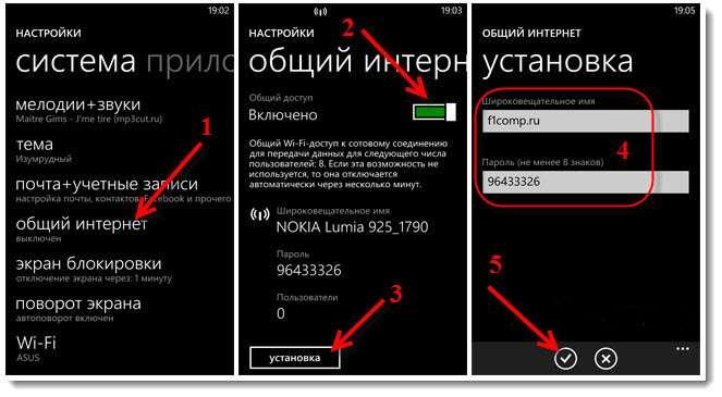 подключение windows phone как модема
