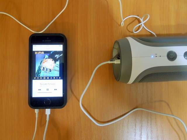 подключение колонки JBL к смартфону через шнур