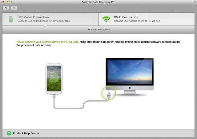 Tenorshare Android Data Recovery подключение телефона к компьютеру