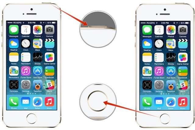 перезагрузка iPhone