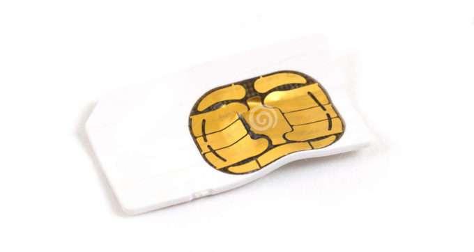 Деформация SIM-карты