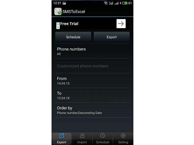 Как перенести СМС с Андроид в Excel
