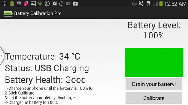 калибровка батареи с помощью Battery Calibration