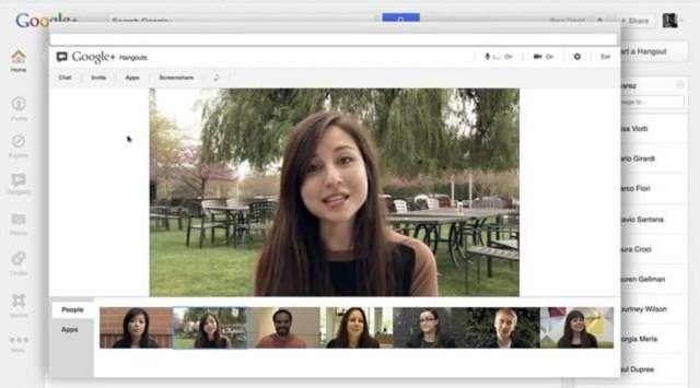 Hangouts видеоконференция