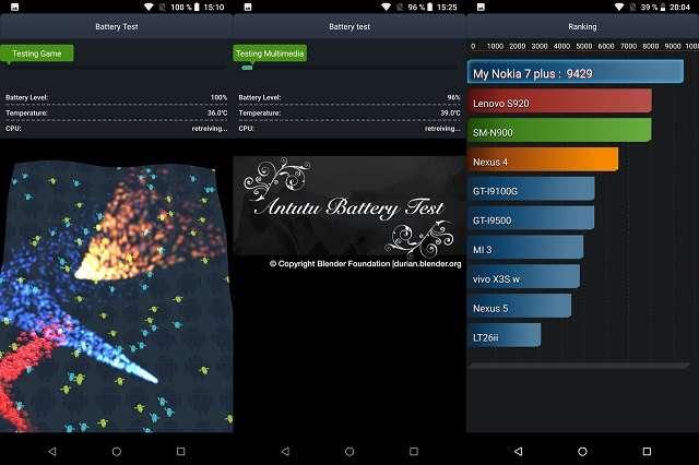 Nokia 7 Plus тест батареи