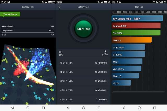 Meizu M6s батарея антуту