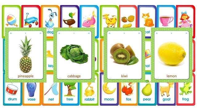 Kids' Flashcards: Fruit & Vegi