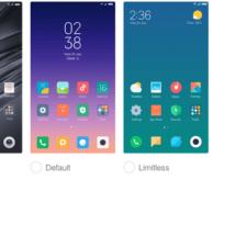 Xiaomi Mi Mix 2s выбор темы