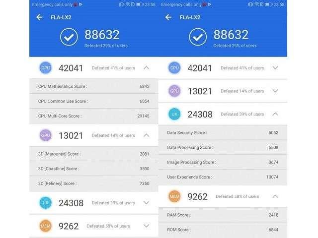 Huawei Y9 (2018) тест AnTuTu
