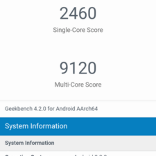 Xiaomi Mi Mix 2s GeekBench