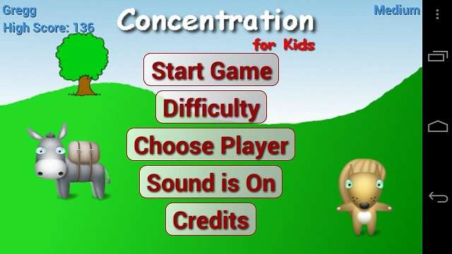 Concentration for Kids
