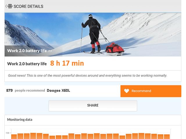 Doogee X60L батарея