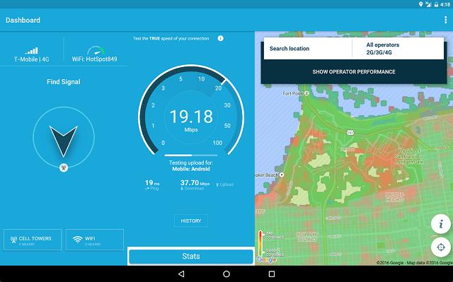 3G 4G WiFi Map & Speed Test