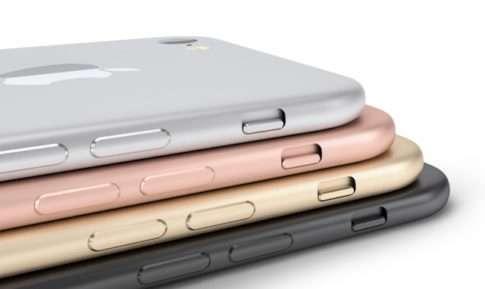 Телефоны IPhone в разных цветах