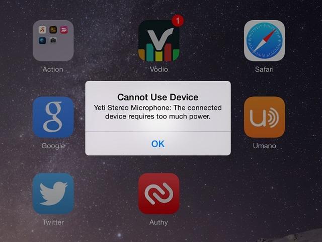 ошибка на iphone