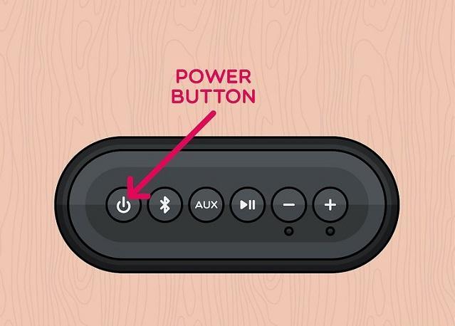 кнопка питания на колонке