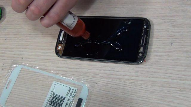 Клей для экрана телефона