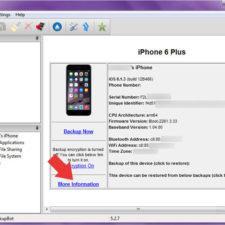 проверка батареи iphone в iBackupBot