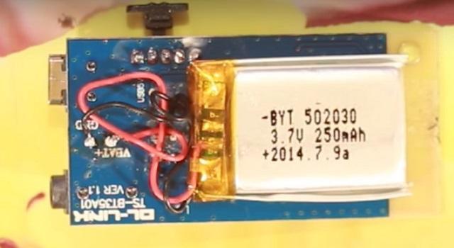 Bluetooth-ресивер батарея
