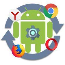поменять браузер на андроид