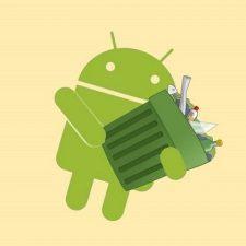 андроид с мусором