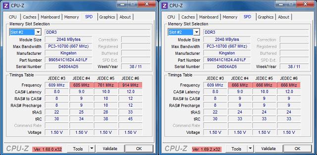 CPU-Z память