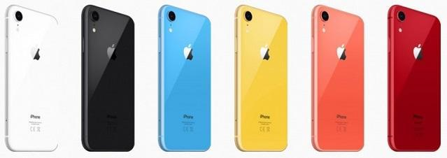 iPhone Xr цвета