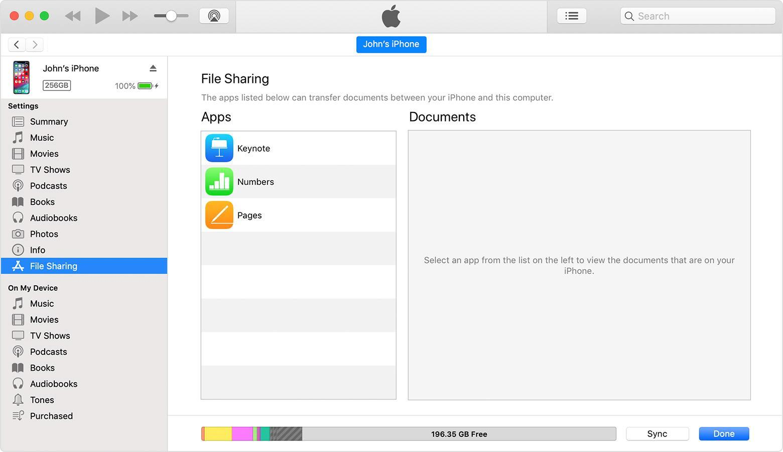 Интерфейс iTunes