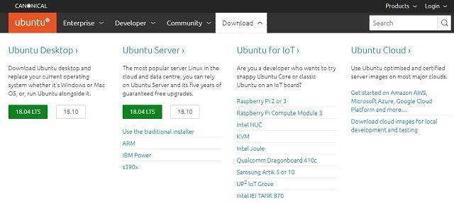 скачать установочный образ ubuntu
