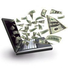 Деньги вылетающие из ноутбука