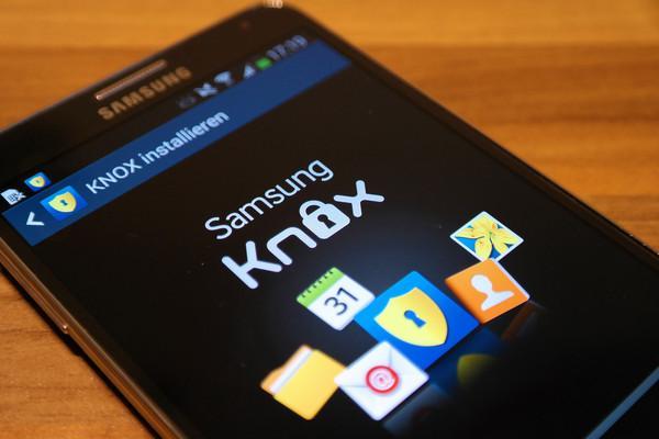 KNOX запущенный на телефоне