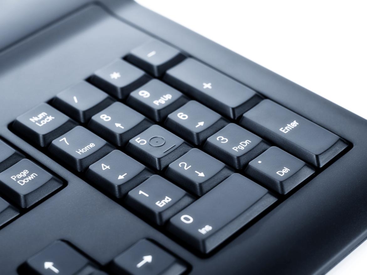 Цифровая клавиатура ноутбука
