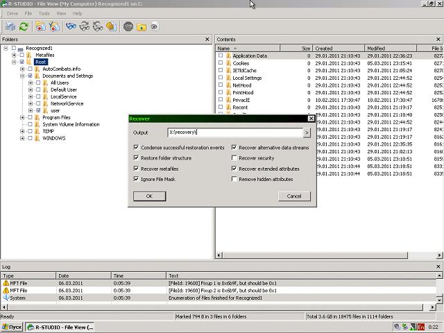восстановление данных с R-Studio