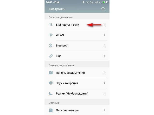 SIM-карты и сети