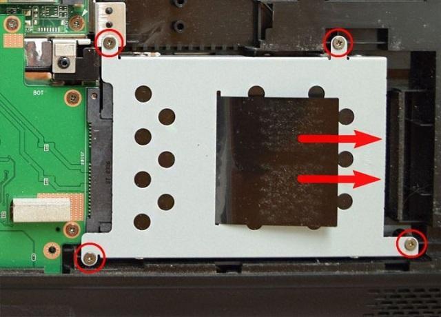 отсоединение HDD