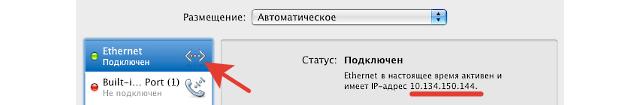 узнать IP-адрес на mac