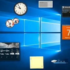 Рабочий стол Windows с гаджетами