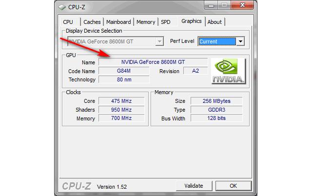 CPU-Z узнать модель видеокарты