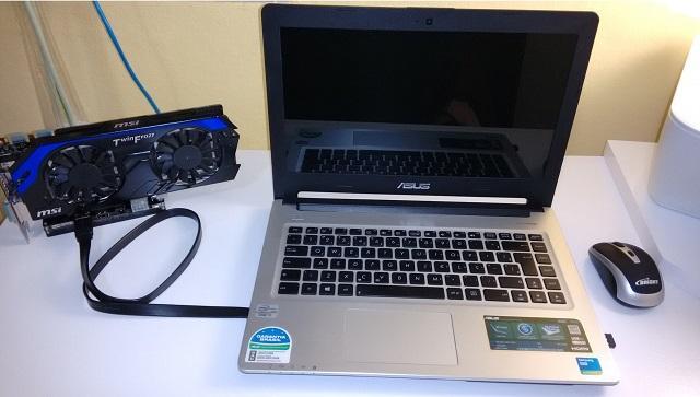 подключение внешней видеокарты к ноутбуку