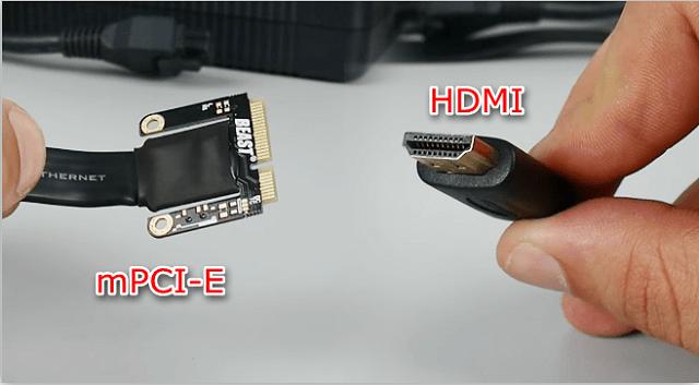 Кабель для подключения внешней видеокарты к ноутбуку с разъемами mPCI-E и HDMI