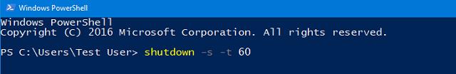 Таймер выключения компьютера через PowerShell