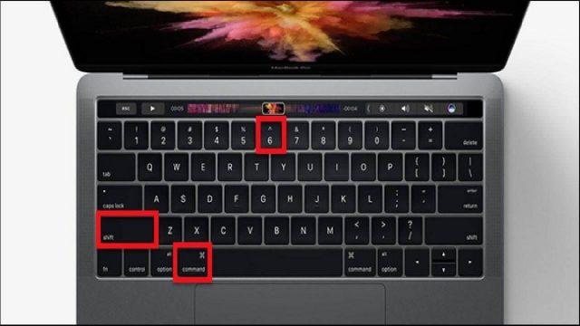 сочетание клавиш Shift+Command+6